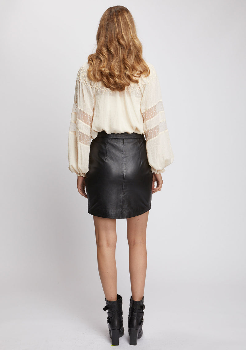 Lola Studded Skirt Black Back