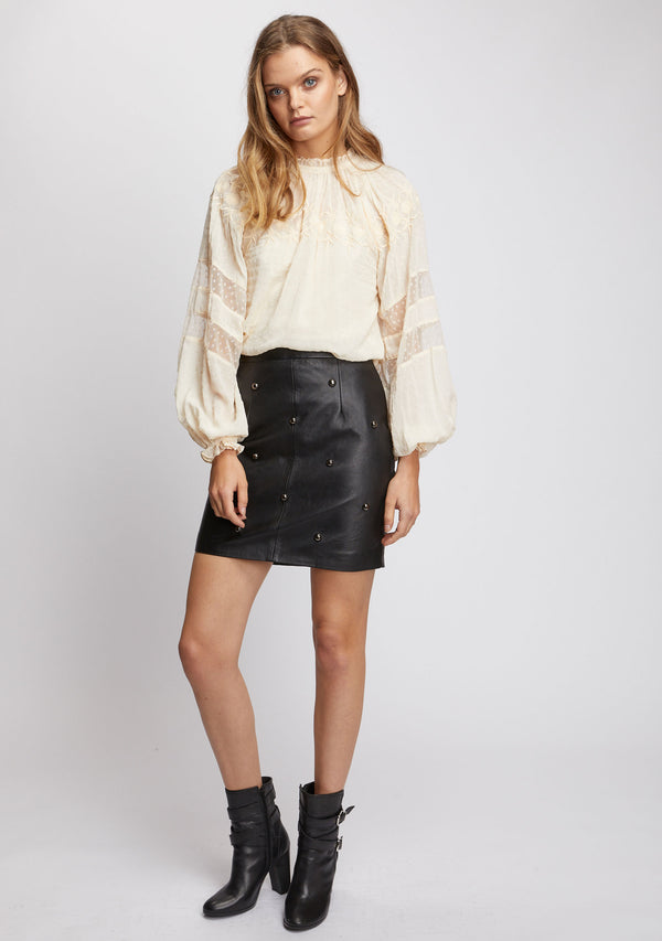 Lola Studded Skirt Black Front