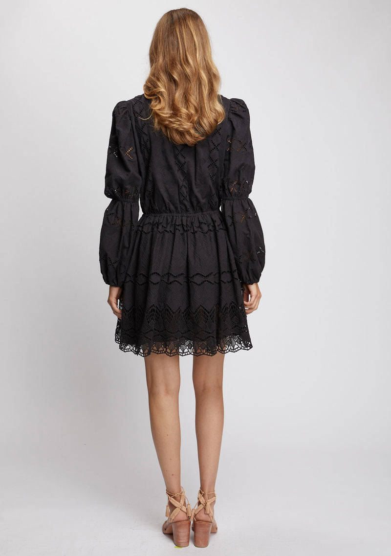 Lotus Dress Black Back