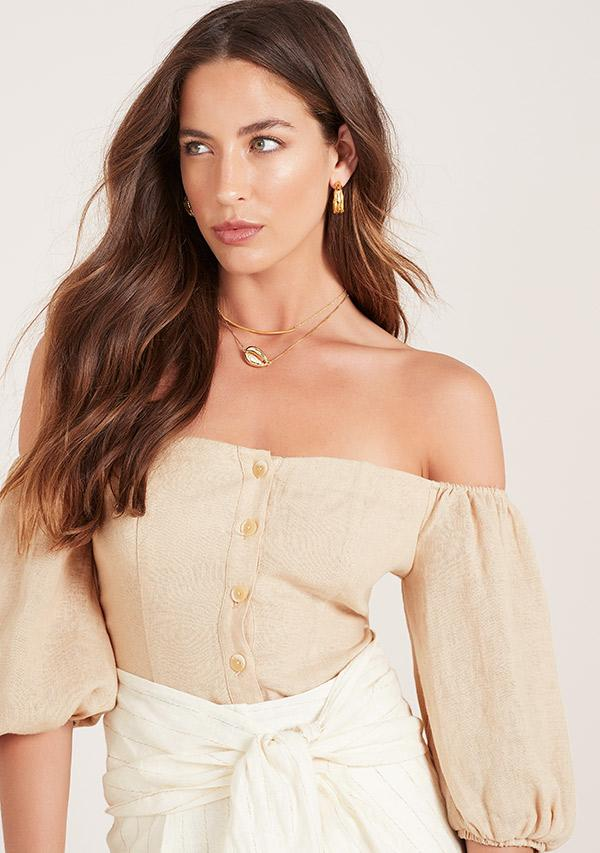 malia off the shoulder top ministry of style