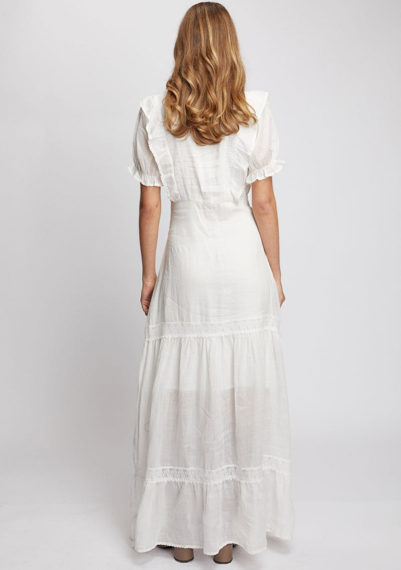 Mandolin Maxi Dress Ivory Back