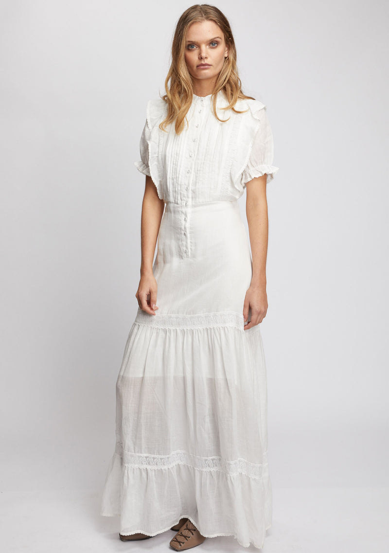 Mandolin Maxi Dress Ivory Front