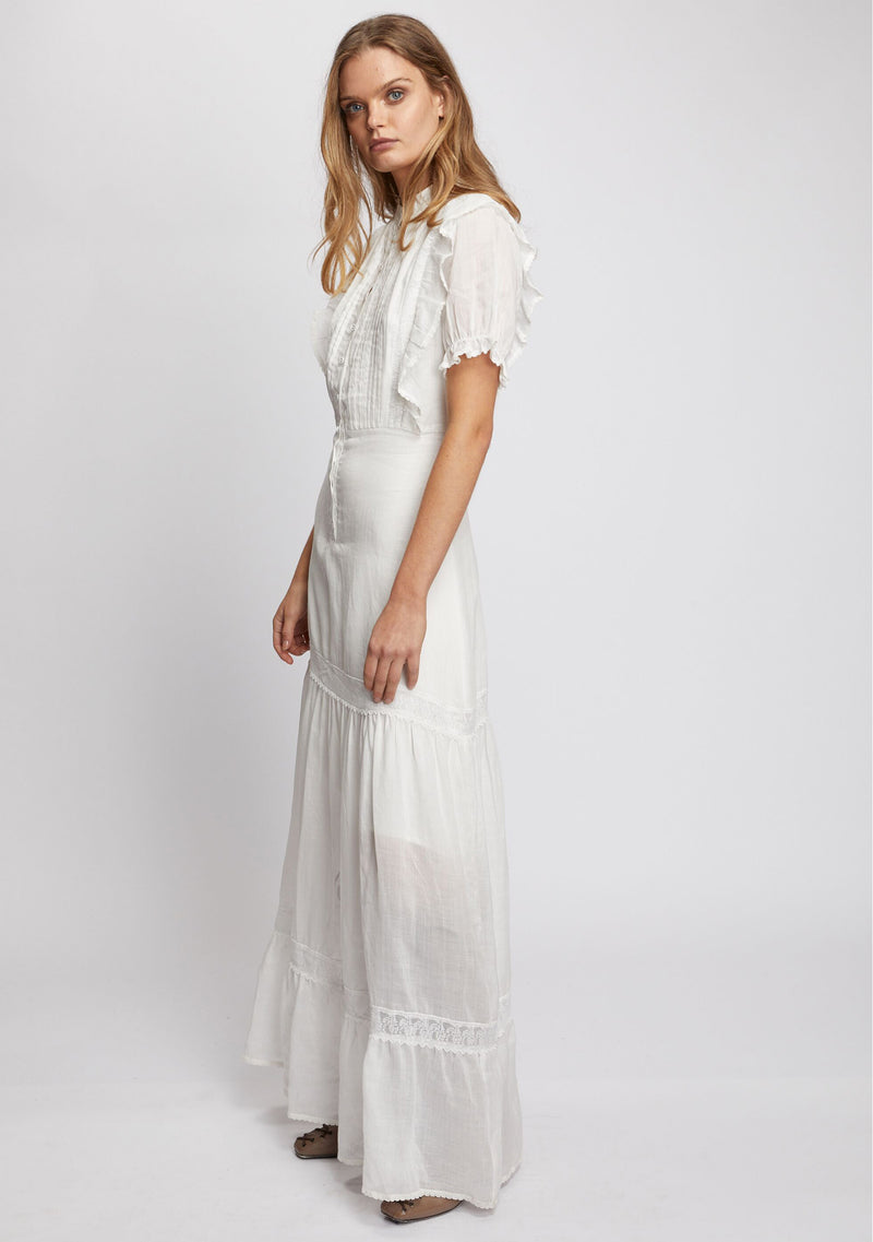 Mandolin Maxi Dress Ivory Side