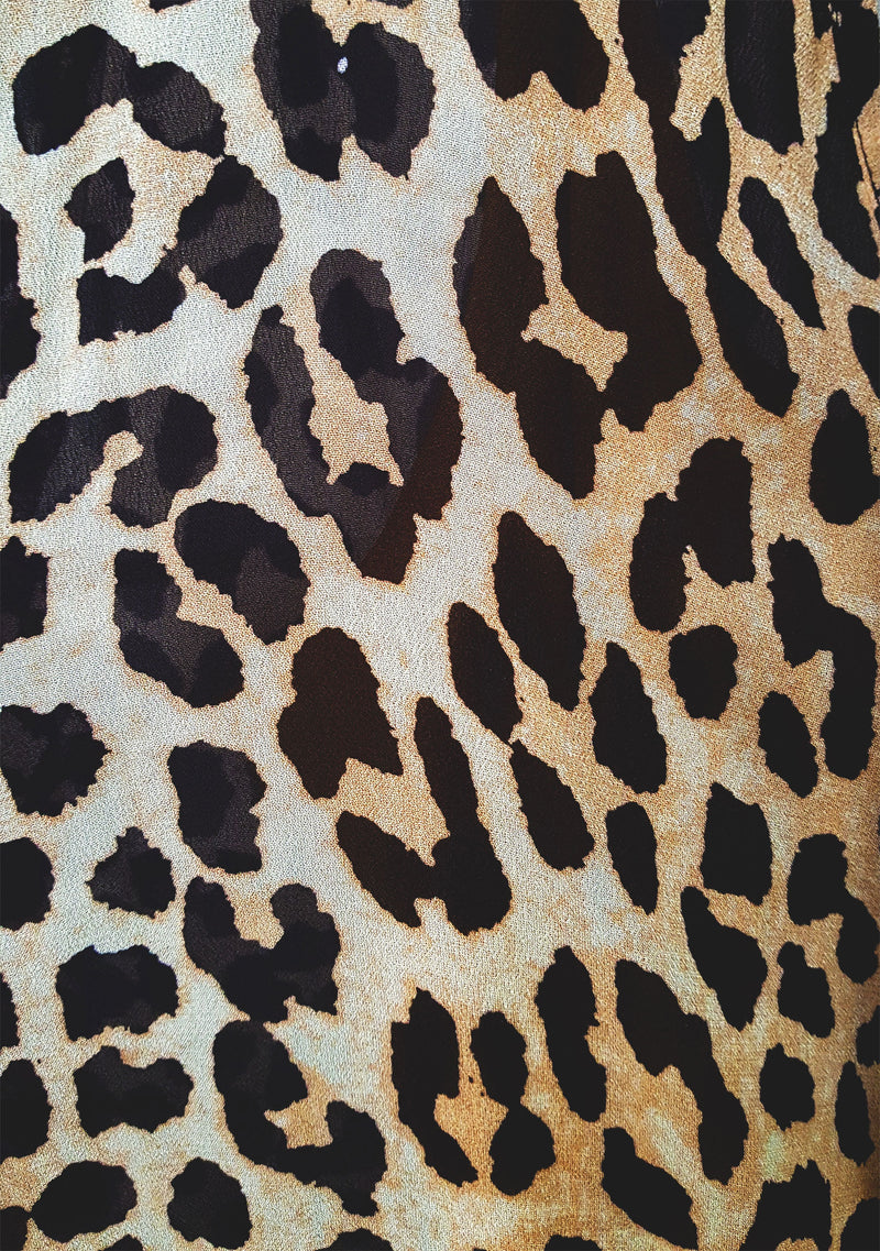 Nightfall Maxi Dress Leopard Print Detail