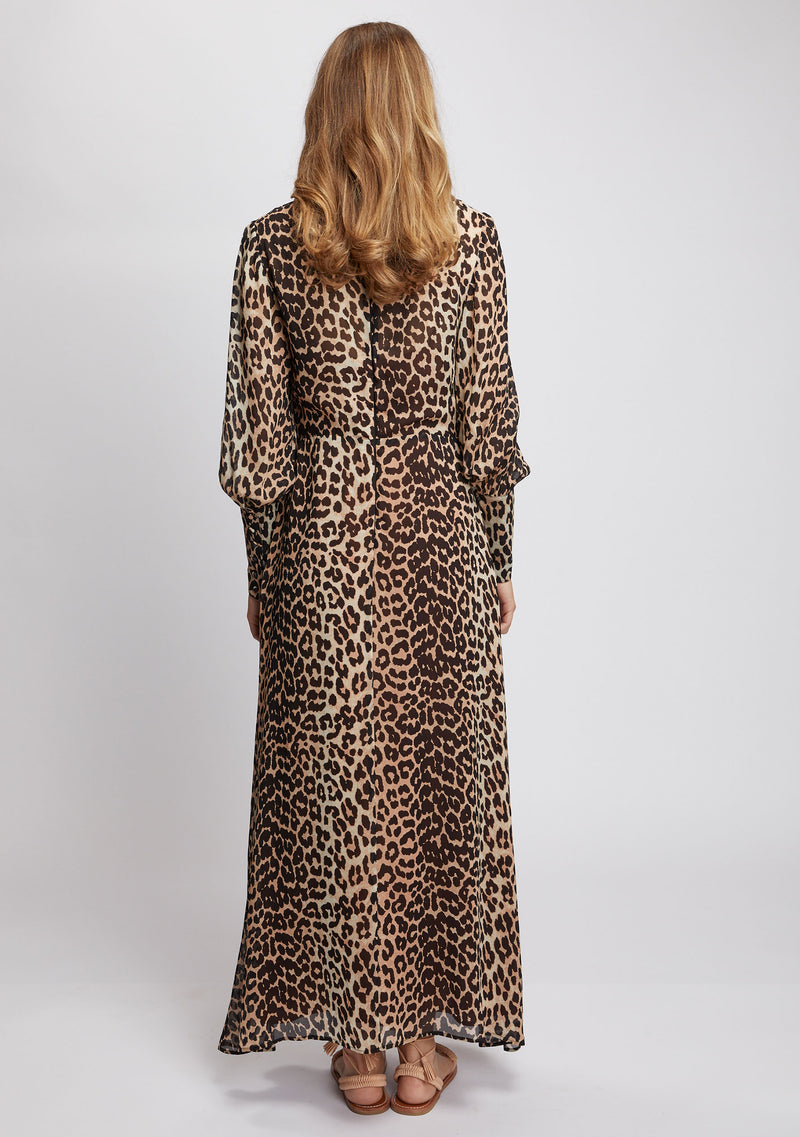 Nightfall Maxi Dress Leopard Print Back