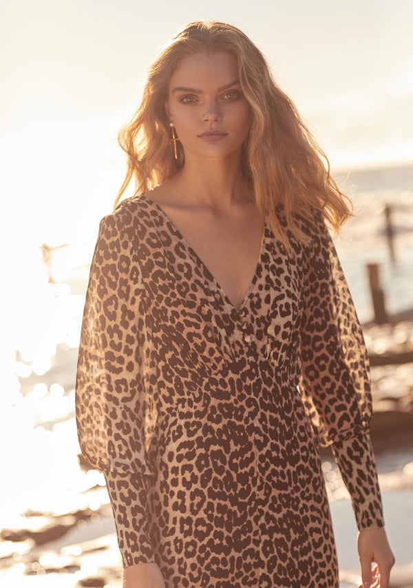 Nightfall Maxi Dress Leopard Print Moodshot