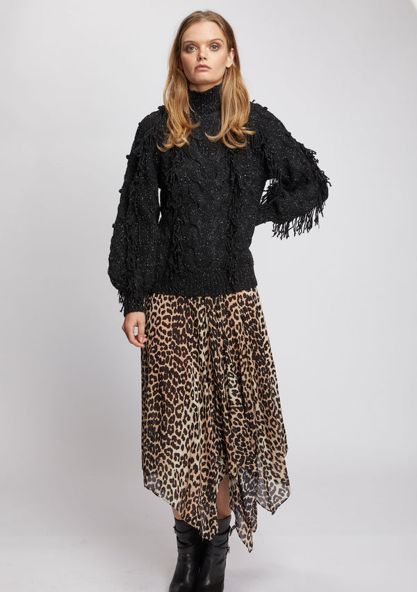 Nightfall Skirt Leopard Print Front