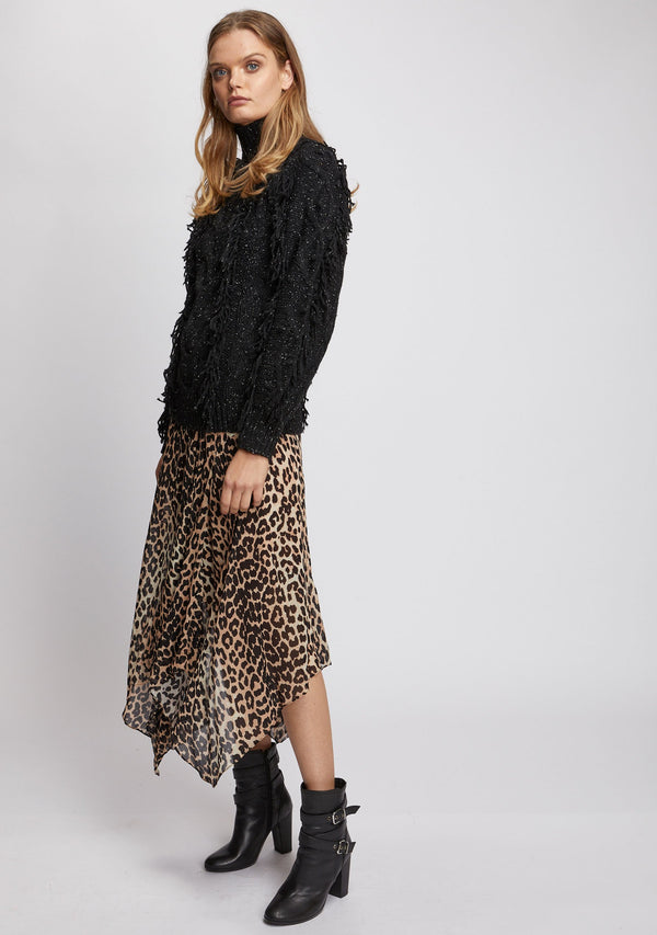 Nightfall Skirt Leopard Print Side