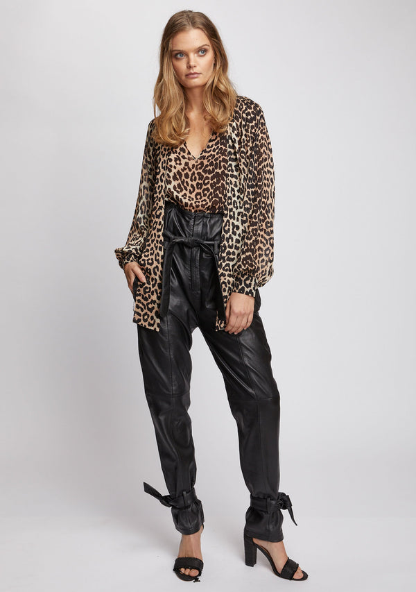 Nightfall Top Leopard Print Front