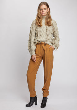 Paloma Fringe Sweater Natural Front