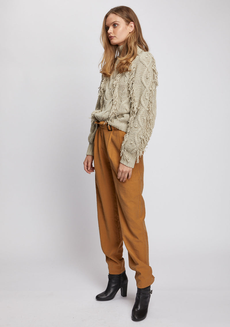Paloma Fringe Sweater Natural Side