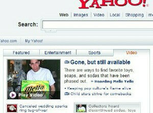 Yahoo front page showing Brian
