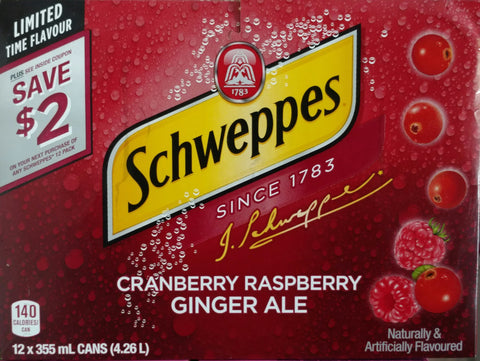 Schweppes Cranberry Raspberry Ginger Ale