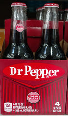 Dr Pepper 4pk Glass
