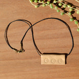 Simple Tan Polymer Clay Necklace