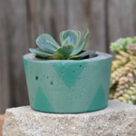 Two-Toned Triangle Concrete Planter