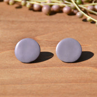 Lavender Stud Polymer Clay Earrings by Jax Atelier