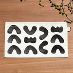 Abstract Shapes Block Print Pouch