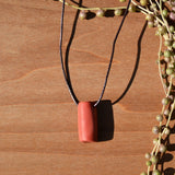 Minimalistic Terra Cotta Polymer Clay Necklace