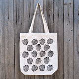 Monstera Patterned Block Print Tote
