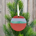 One-of-a-kind, Handmade Polymer Clay Christmas Tree Ornament by JAX Atelier
