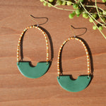 One-of-a-kind Bead and Polymer Clay Earrings by JAX Atelier
