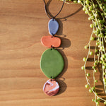 Abstract Shapes Polymer Clay Statement Necklace by JAX Atelier