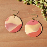 Cream, Blush and Terra Cotta Polymer Clay Statement Earrings by JAX Atelier