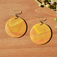Turmeric Swirl Polymer Clay Earrings
