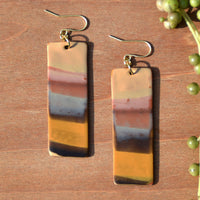 Multicolored Warm-Toned Polymer Clay Statement Earrings by JAX Atelier