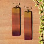 Warm Gradient Rectangular Polymer Clay Statement Earrings by JAX Atelier