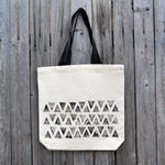 Triangles Block Print Tote