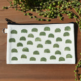 Olive Humps Block Printed Pouch