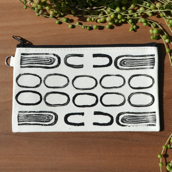 Abstract Design Block Printed Pouch