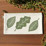 Fall Leaves Block Printed Pouch