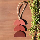 Terra Cotta Ombre Stacked Half-Circles Polymer Clay Holiday Ornament by JAX Atelier