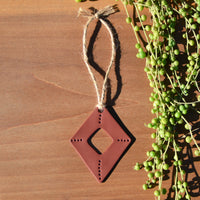 Terra Cotta Diamond Shaped Polymer Clay Holiday Ornament by JAX Atelier
