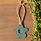 Seafoam Starfish-Shaped Polymer Clay Christmas Ornament by JAX Atelier