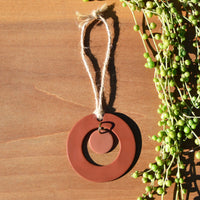 Terra Cotta and Blush Center Drop Polymer Clay Holiday Ornament by JAX Atelier