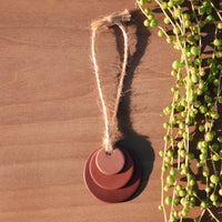 Terra Cotta Gradient Circle Polymer Clay Ornament