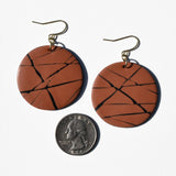 Abstract Orange and Black Polymer Clay Earrings by Jax Atelier