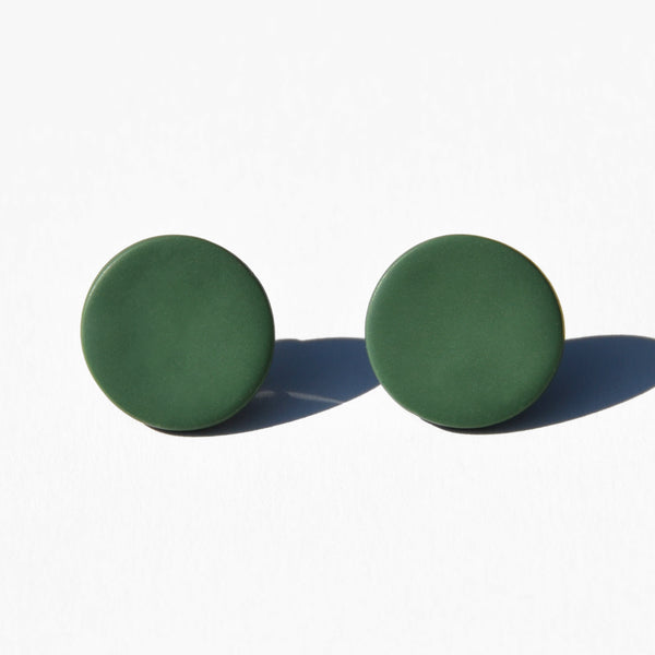 Seafoam Green Polymer Clay Stud Earrings by Jax Atelier