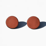 Burnt Orange Polymer Clay Stud Earrings by Jax Atelier