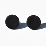 Black Polymer Clay Stud Earrings by JAX Atelier