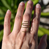 Switchback Wire Sculpted Ring