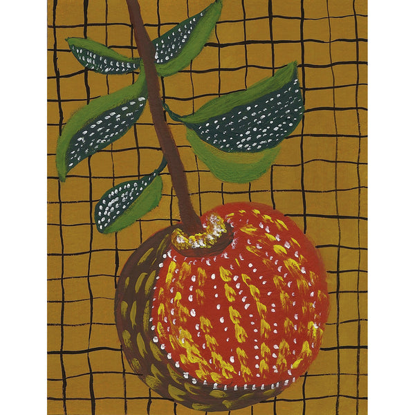 """Hanging Apple"" Original Gouache Painting"