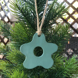 Seafoam Starfish-Shaped Polymer Clay Holiday Ornament by JAX Atelier