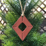Terra Cotta Diamond Shaped Polymer Clay Christmas Ornament by JAX Atelier