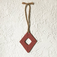 Terra Cotta Diamond Shaped Polymer Clay Wall Hanging by JAX Atelier