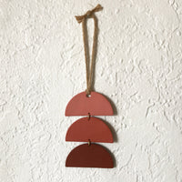 Terra Cotta Ombre Stacked Half-Circles Polymer Clay Wall Hanging by JAX Atelier